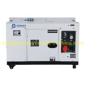 7kVA 1 cylindres générateur diesel silencieux (Type de ventilateur mécanique)
