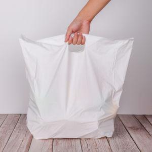precio de fábrica 100% biodegradable T-Shirt manejar llevar bolsas en rollo