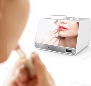 A Mesa portátil Alto-falante Bluetooth portátil Despertador Rádio FM Função Snooze grande display LED X11