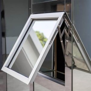 Parte superior de vidro duplo Custom-Made pendurado na janela de alumínio