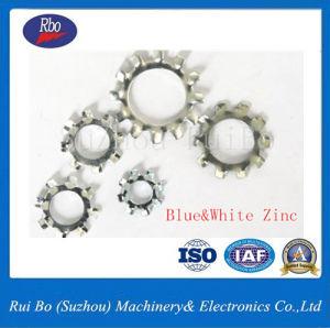 Plaqué zinc6797DIN une denture extérieure de la rondelle en acier à ressort plat