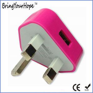 El estilo original UK 3 patillas del enchufe de alimentación USB para el iPhone (XH-UC-013)