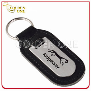Il laser ha inciso il metallo diverso di tiro di marchio & Keychain di cuoio