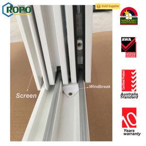 Finestra di scivolamento di legno di colore del PVC di UPVC/, finestra del vinile