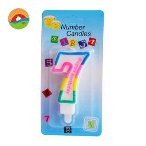 Venda por grosso número 0-9 Happy Birthday tipo vela de cera de parafina