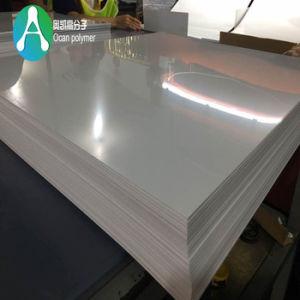 4*8台所のための不透明で白い光沢のあるプラスチック堅いPVCシート