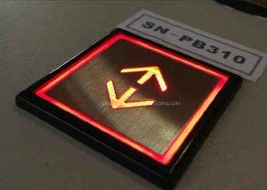 Transparente Plastikzeichen-Otis-Höhenruder-Taste für Passagier-Aufzug (SN-PB310)