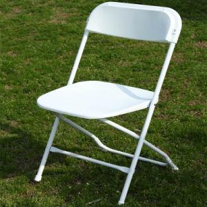 Steel Frame를 가진 백색 Plastic Folding Chair