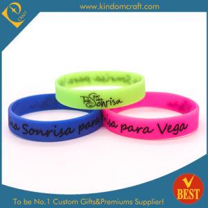 Silicone all'ingrosso Wristband/Bracelet di stampa di Custome