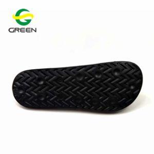 EVA Plain Sandalia de diapositivas, PVC negro Mens Diapositiva Diapositiva de logotipo personalizado Sandalia Sandalia Zapatilla de hombre