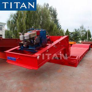 Titaan de Aanhangwagens van Lowbed van de Hals van de Gans van 100 Ton voor Verkoop door de Apparatuur van de Bouw Vervoer