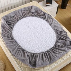 Barato de poliéster estilo acolchoados de colchão impermeável/ Protector de colchão