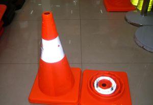 Cône de trafic réfléchissant pliante escamotable pour la sécurité routière (CC-AB50)