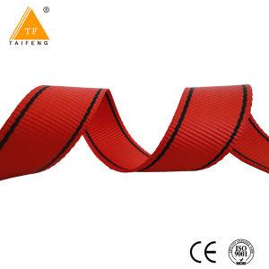 Tessitura elastica Braided del Knit molle in bianco e nero della banda del jacquard