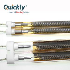 Revestimento de ouro de ondas médias do tubo de quartzo, lâmpadas de aquecimento infravermelho