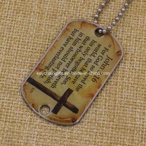 Printing su ordinazione Aluminum Military Dog Tag con Chain