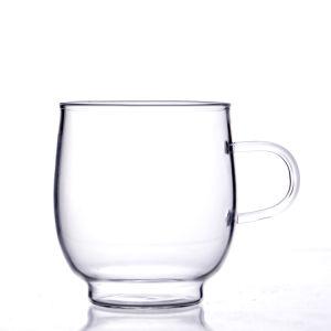 Handgemachte hitzebeständige Borosilicat-einzelne Wand-Glascup mit Griff