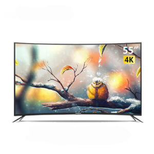 LED digital inteligente curvo mais recente TV