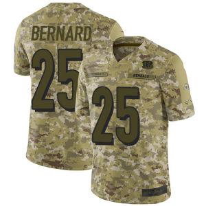 2018 Camo салют для обслуживания Джерси Bengals футболках Nikeid 25 Giovani Бернар