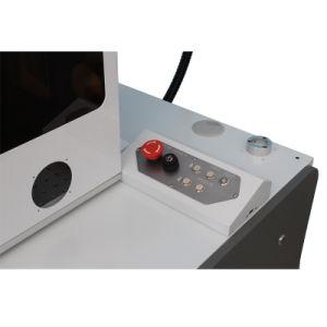 20W携帯電話は安全カバーが付いているファイバーレーザーの彫版機械を調整する