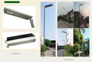 LED intégrée du capteur de la rue lumière solaire avec le capteur de contrôle pour l'autoroute 10W/20W/30W/40W/50W/60W