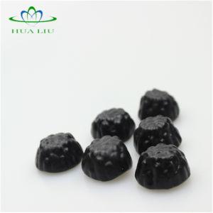 El jugo de fruta contiene la forma animal grueso Oso, pizza, colocar formas caramelos gomosos