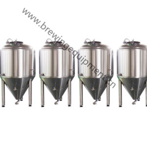 Barras polidas de aço inoxidável Tanque Cervejeira Equipamento de fermentação