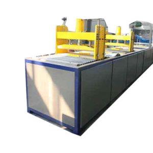Perfil de fibra de plástico reforçado por fibra Pultrusion Máquina com suporte do Urdidor
