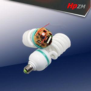 Espiral de luz da lâmpada CFL lâmpada economizadora de energia
