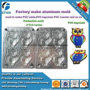 Grabado en China los 2 lados de la Fábrica de Dibujos Animados personalizados Owl Llavero PVC/Etiqueta Molde