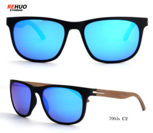 Klassieke Tr90 Zonnebril voor Vrouw, Houten Zonnebril