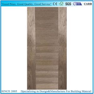 Vert porte plat Moistureproof MDF la peau avec placage de chêne rouge