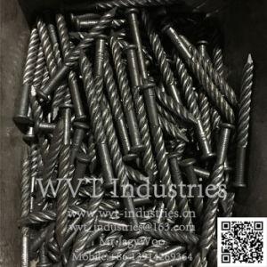 Automatischer Draht-Nagel der Geschwindigkeit-Z94-4c, der Maschine für den 2  - 4  Zoll-Nagel/Ring-Nagel bildet Maschinen-und Nagel-Gewinde-Walzen-Maschine/den Nagel verdreht Maschine herstellt
