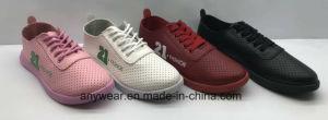Señoras de la inyección de poliuretano mujeres calzado vulcanizado baratos zapatos zapatillas (750)
