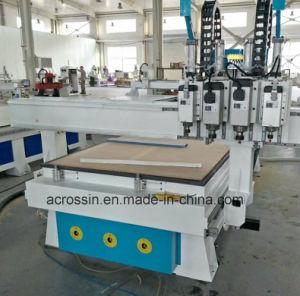 彫版木、柔らかい金属のために回転式3Dのマルチスピンドル4軸線CNCのルーター機械