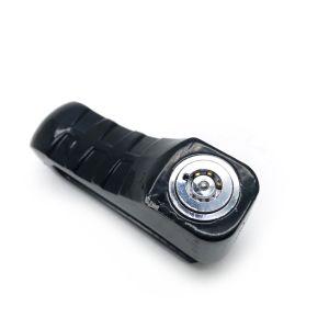 Bloqueo de disco de la Motocicleta de color negro con llaves