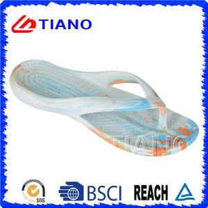 Flip-flop coloridos de la playa de EVA de la venta caliente para la señora y los hombres