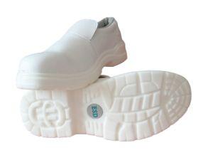 White de cuero Safety Shoes con Steel Toe Cap para la Puntura-Resistant de Food Industry S2 Footwear e Insulative con el Ce En20345