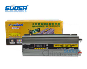 배터리 충전기 (HBA-2000C)를 가진 Suoer 12V 220V 2000W 떨어져 격자 변환장치