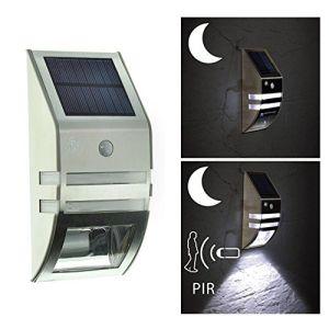 Sensor de movimiento de la Energía Solar LED Apliques Lámpara de jardín de la calle exterior impermeable