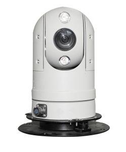 手段は100mの夜間視界IR PTZ CCTVのカメラを取付けた