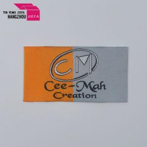 工場価格の簡単なブランドの文字によって編まれるラベルか衣類のラベル