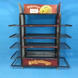 관례 직접 케이크 상점 Mobilizable 금속 와이어 간식 선반 과자 빵 진열대