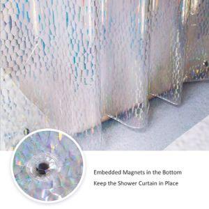 Mildew-Free EVA cortina de ducha con pasamuros anticorrosión.