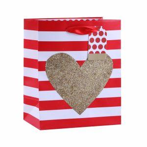 В День Святого Валентина сердце одежду ремесел романтика подарок бумажные мешки