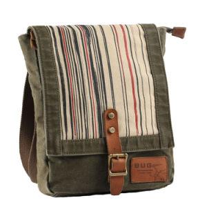 Rayures personnalisé imprimé garniture en cuir sac à dos Sacs de toile de lavage