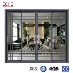 低いEのガラスアルミニウムガラス引き戸