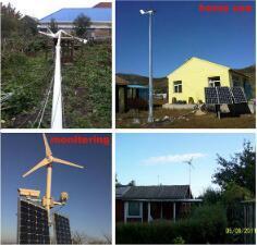 gerador horizontal das energias eólicas da linha central 500W para o uso Home
