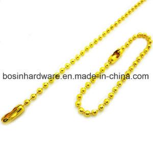 Ketting van uitstekende kwaliteit van de Bal van de Kleur van het Metaal de Gouden