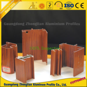 Profilo di alluminio del grano di legno per la decorazione del portello e della finestra
